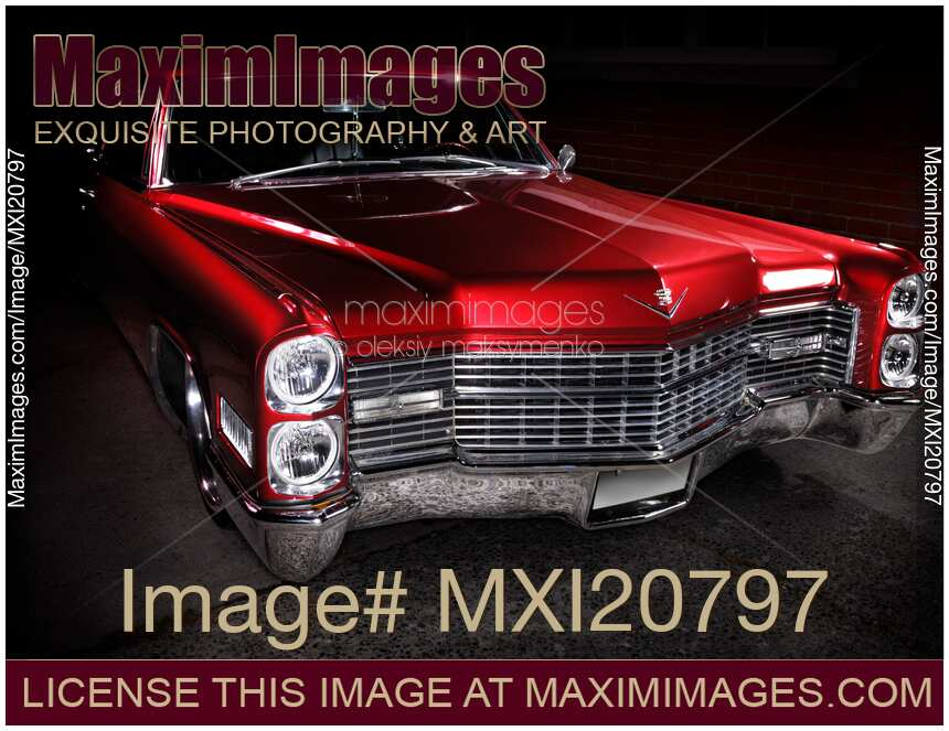 stock photo  1967 cadillac coupe deville