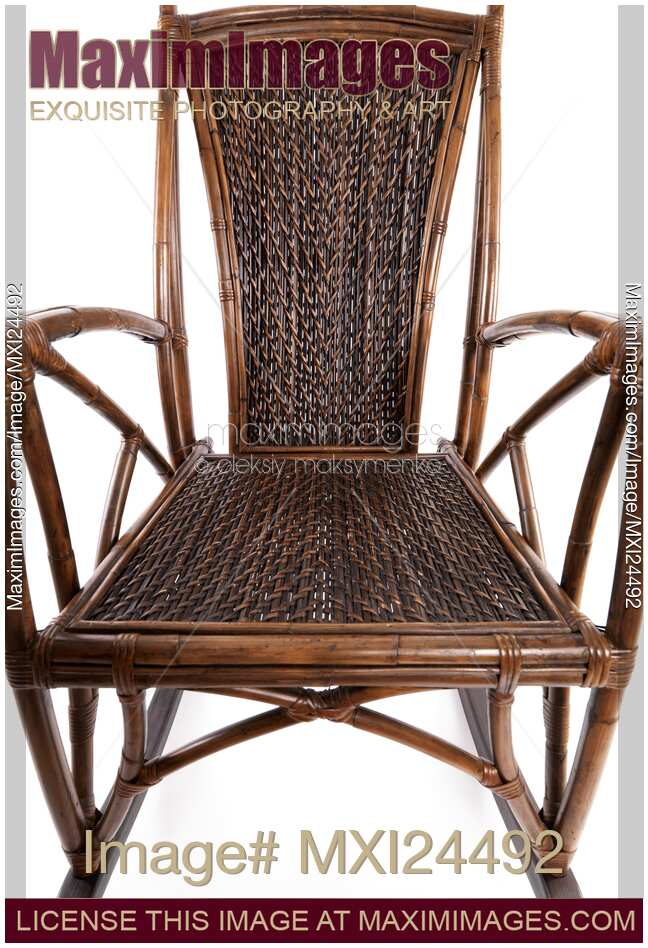 Attrayant Stock Photo Of Abstract Closeup Of Antique Wicker Rocking Chair