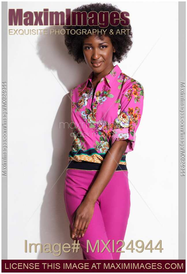 Stock Photo African American Woman Fashion Photo