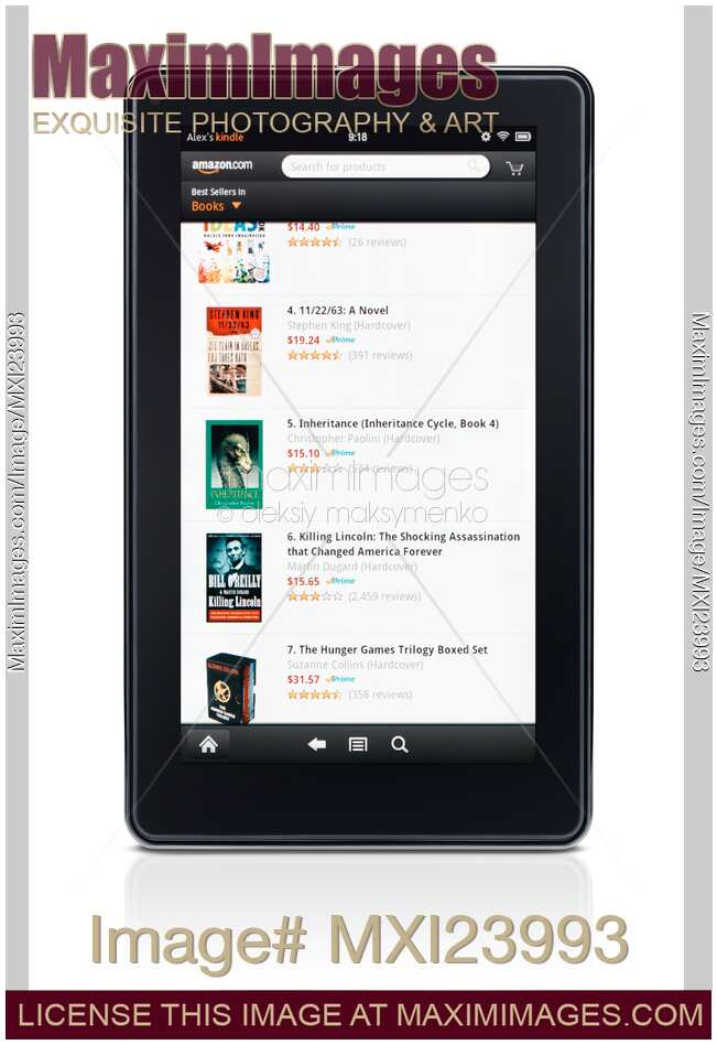 Stock photo: Amazon Kindle Fire book store | MaximImages | Image #MXI23993