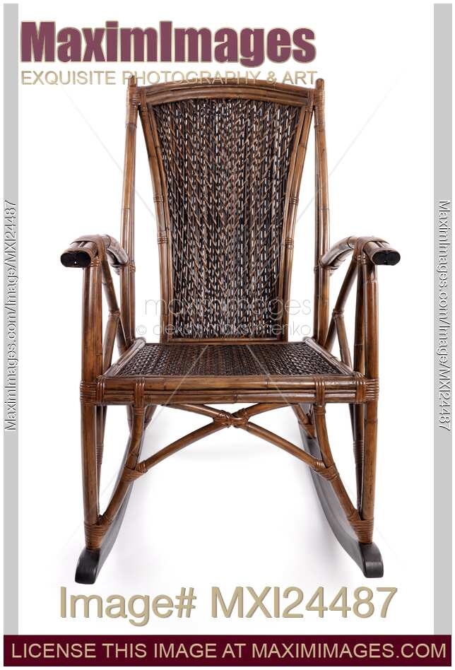 stock photo antique wicker rocking chair maximimages image mxi24487. Black Bedroom Furniture Sets. Home Design Ideas