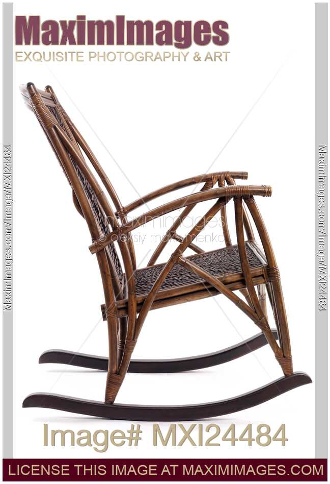 Stock photo of Antique Wooden Rocking Chair - Stock Photo: Antique Wooden Rocking Chair MaximImages Image