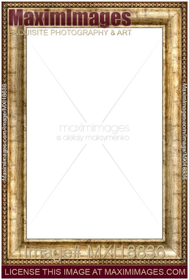 Stock photo: Antique wooden vertical picture frame | MaximImages