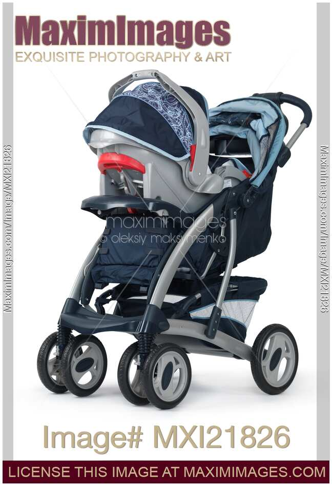 Stock photo of Baby Stroller with a Car Seat