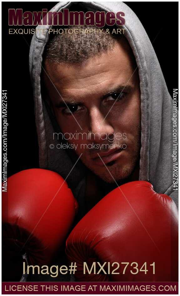 Boxer Fighter Robe Photo of Dramatic port...