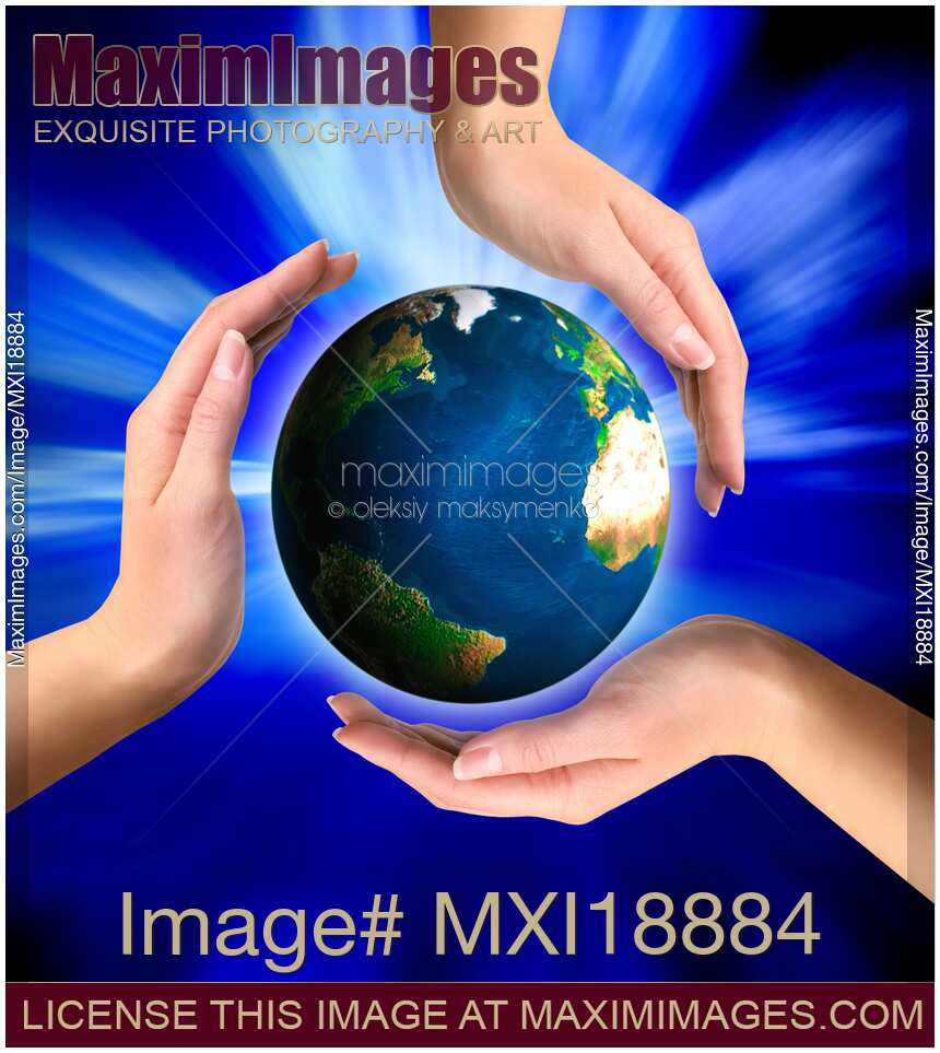 Photo of Earth globe in hands | Stock Image MXI18884