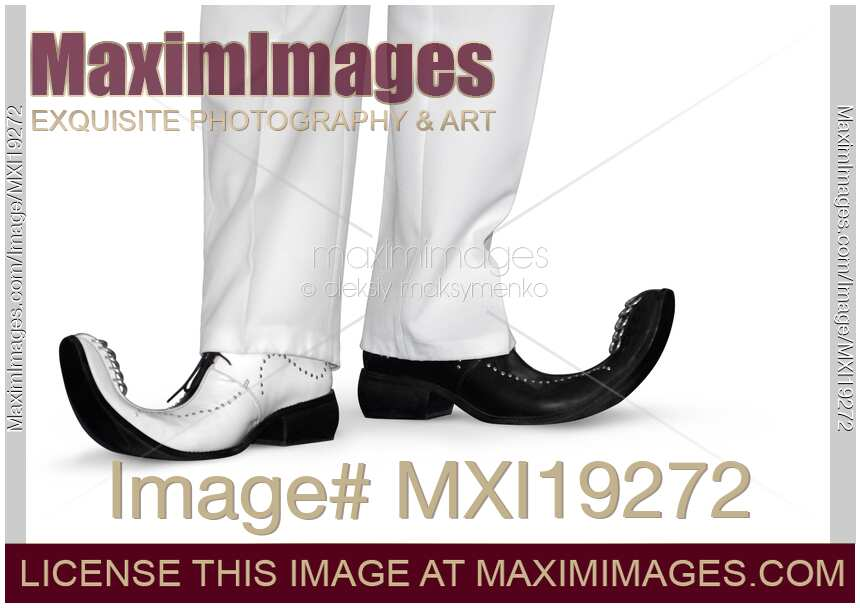 stock photo  funny shoes with curled toes