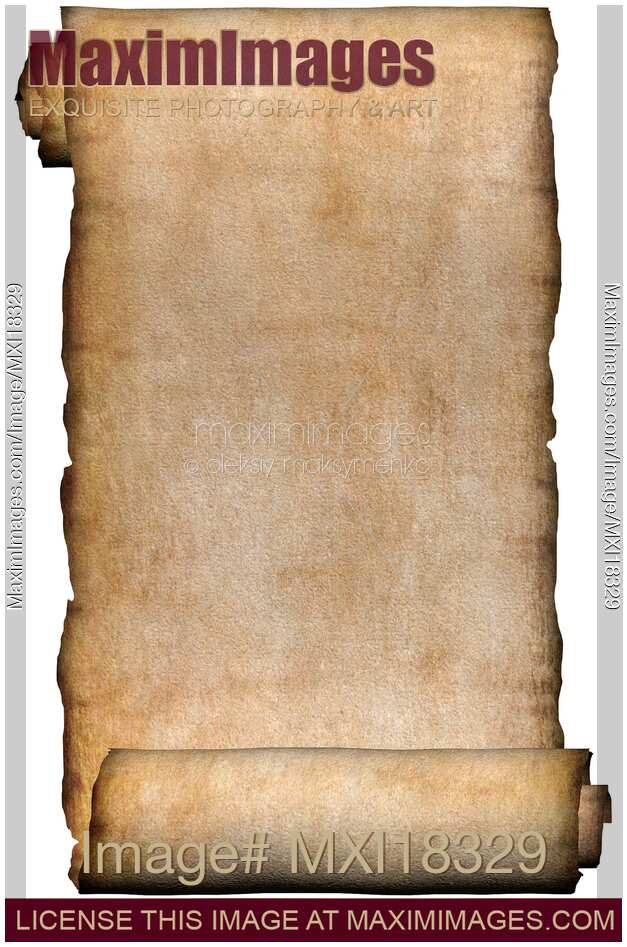 Stock Illustration Manuscript Rustic Roll Of Parchment