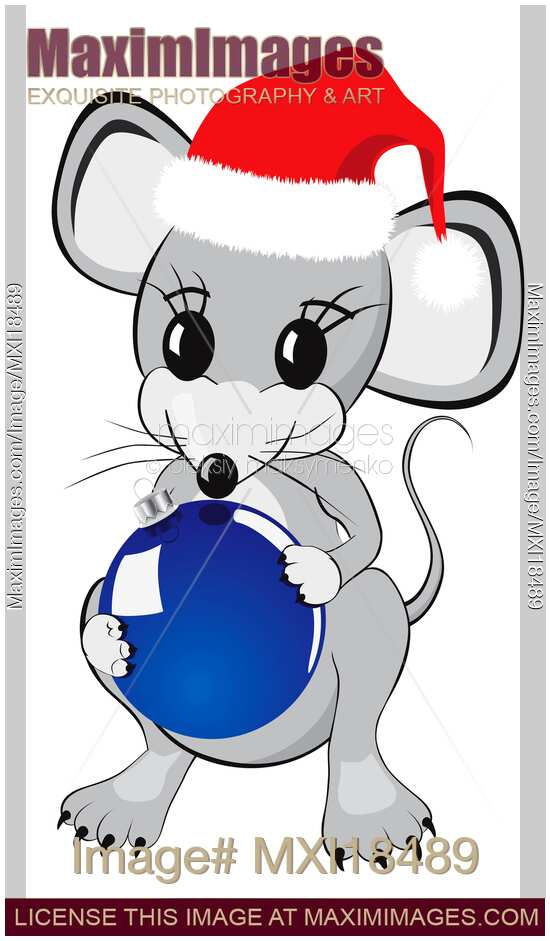 christmas mouse clipart - photo #26