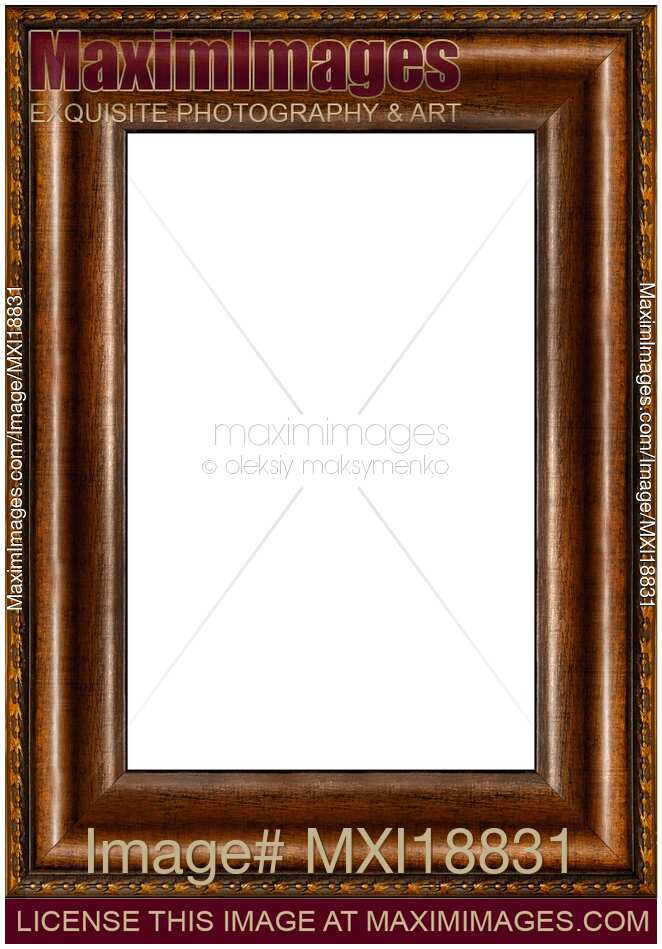 Stock photo: Antique rustic dark wooden picture frame | MaximImages