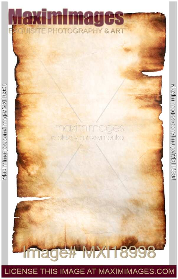Stock photo: Rustic Parchment Paper Background With Burnt ...