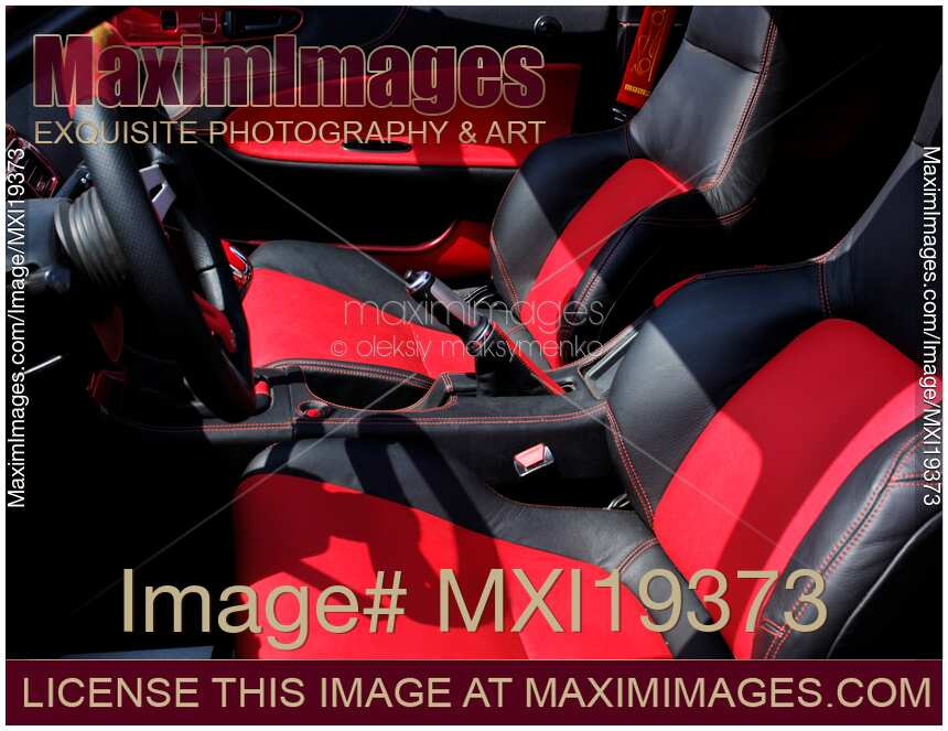stock photo custom car leather seats interior maximimages. Black Bedroom Furniture Sets. Home Design Ideas