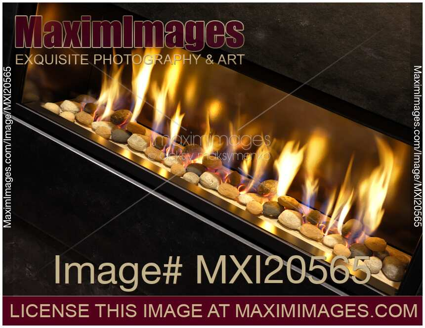 Stock photo of Gas Fireplace