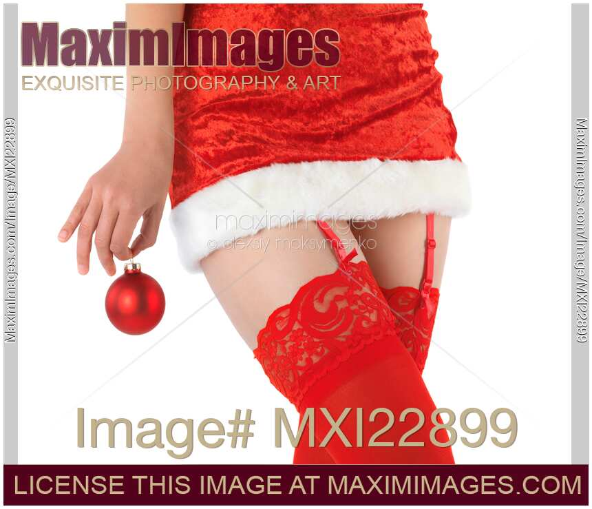 Stock photo of Woman in Sexy Christmas Outfit