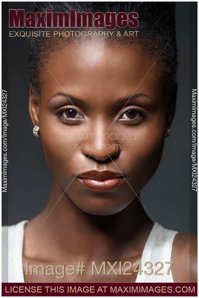 African Woman Gray Background Keywords Black Beauty