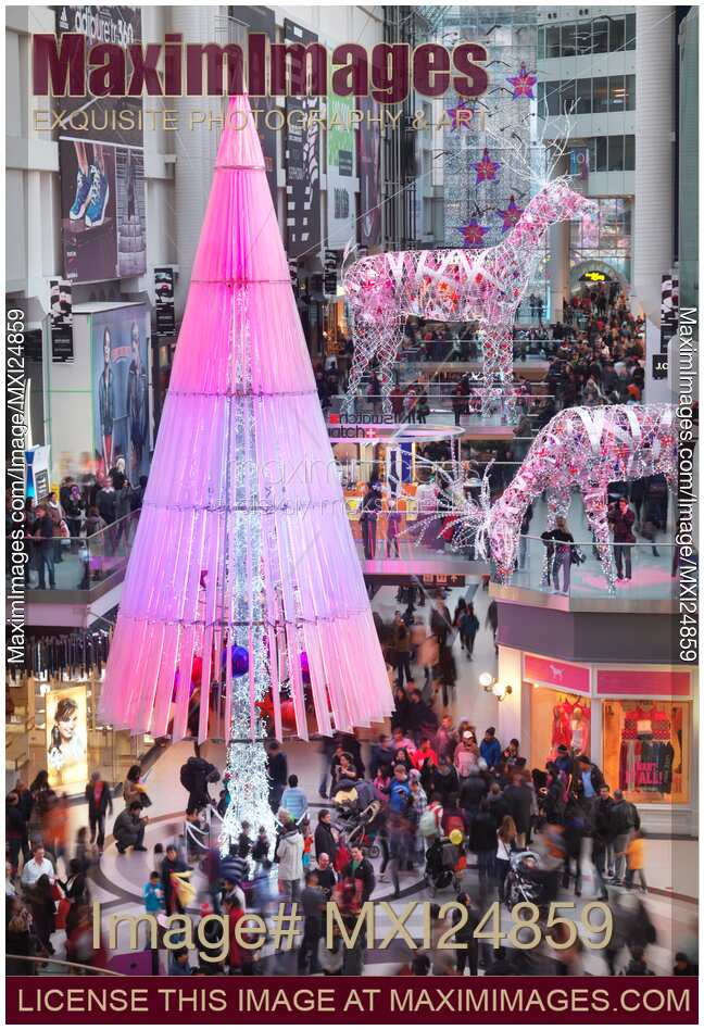 Stock photo toronto eaton centre shopping mall christmas for Christmas decorations online shopping