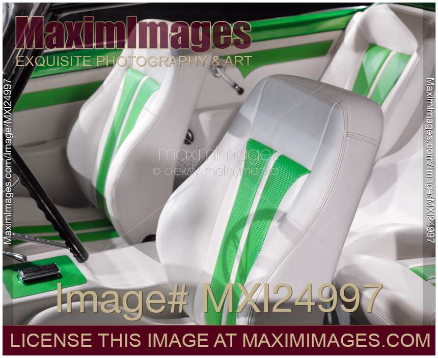 Stock Photo Classic Car Interior Leather Seats Maximimages