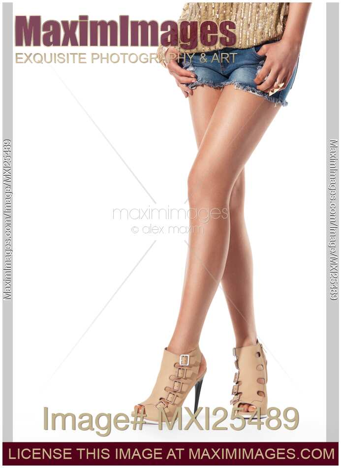 stock photo legs of wearing high heel shoes and