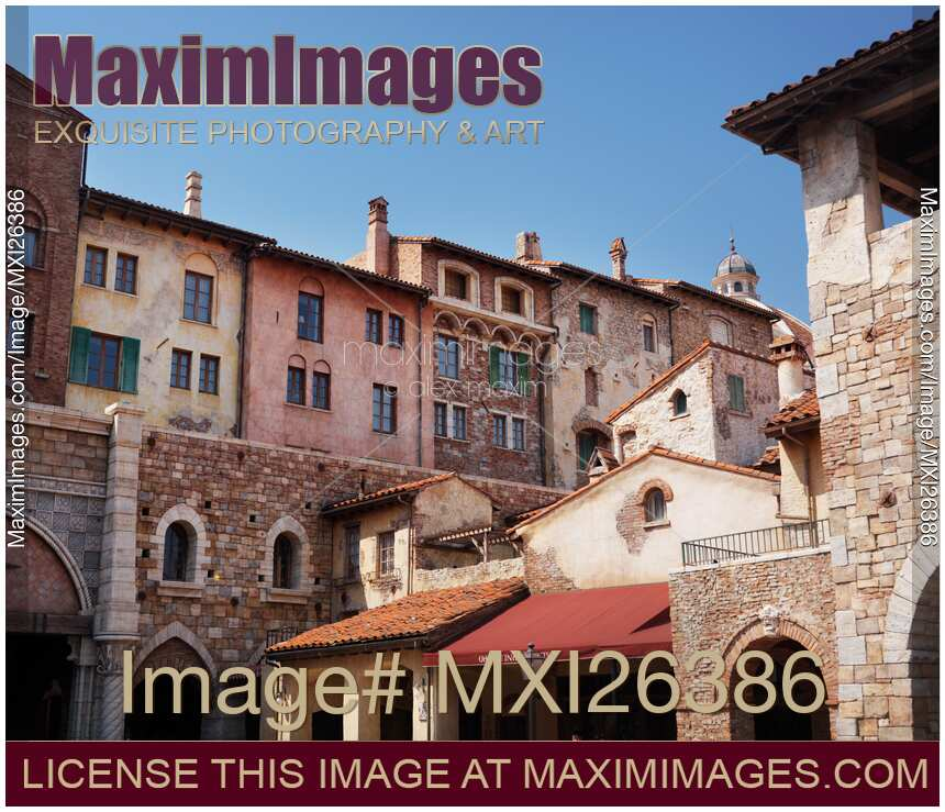 stock photo venetian architecture town buildings at