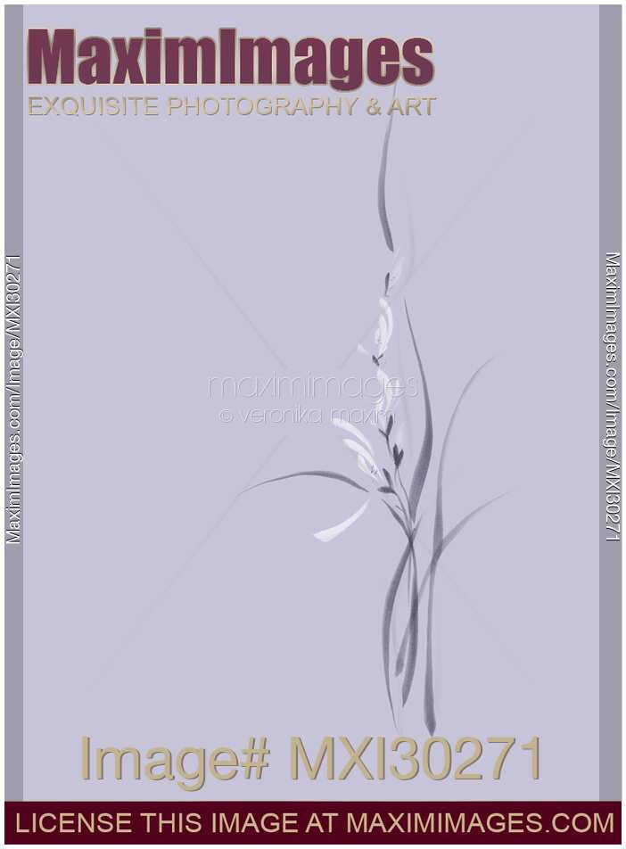 Beautiful light violet orchid flowers artistic floral design