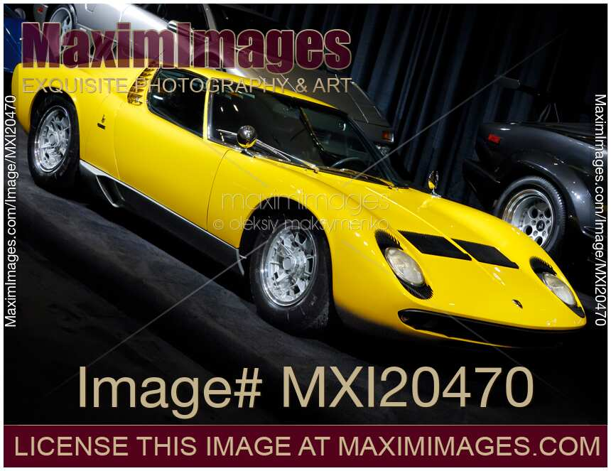 stock photo lamborghini miura 1969 retro sports car maximimages image mxi20470. Black Bedroom Furniture Sets. Home Design Ideas