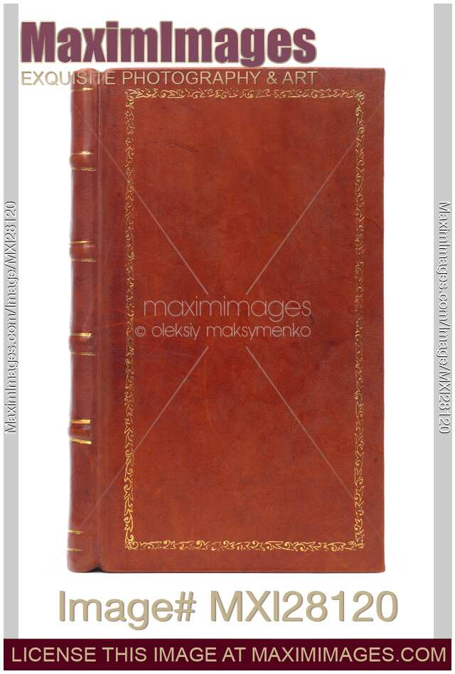 Book Cover Stock Art : Stock photo leather bound vintage book cover maximimages