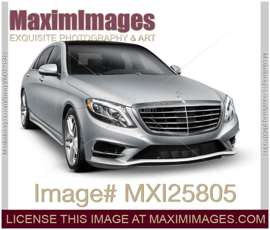 Mercedes Benz S550: Stock Photo: Mercedes-Benz S550 4MATIC Luxury Car