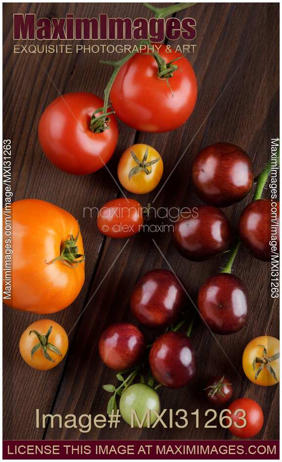 Photo Of Organic Heirloom Tomatoes Of Different Sizes And Colors