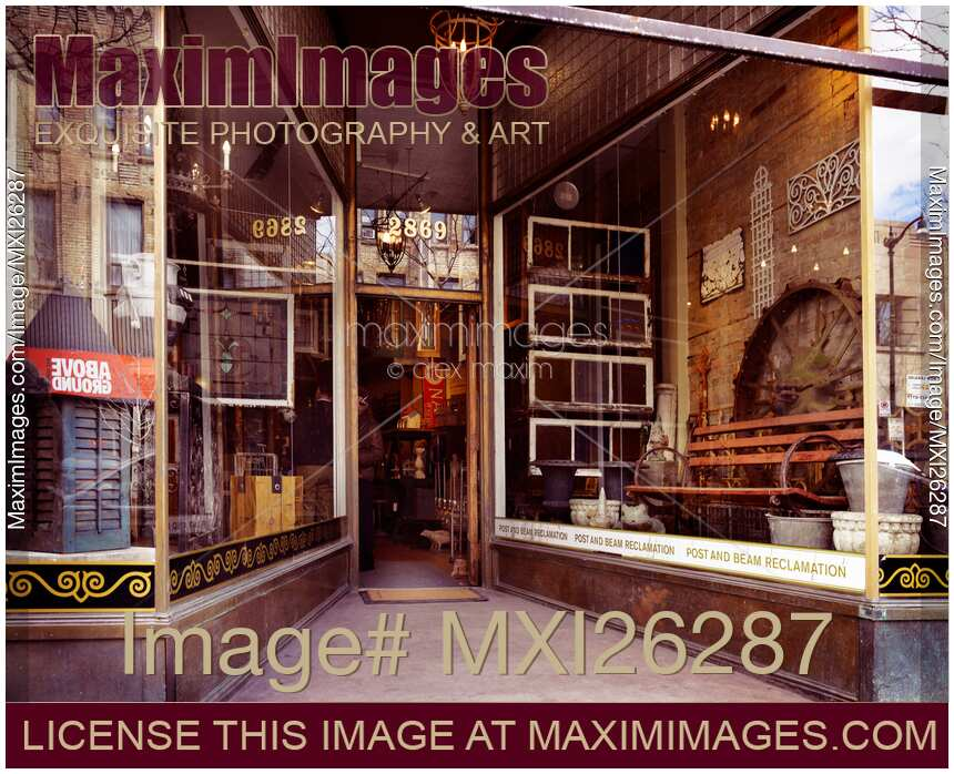 Photo Of Post And Beam Reclamation Antique Decor Store At The Junction Toronto Stock Image Mxi26287