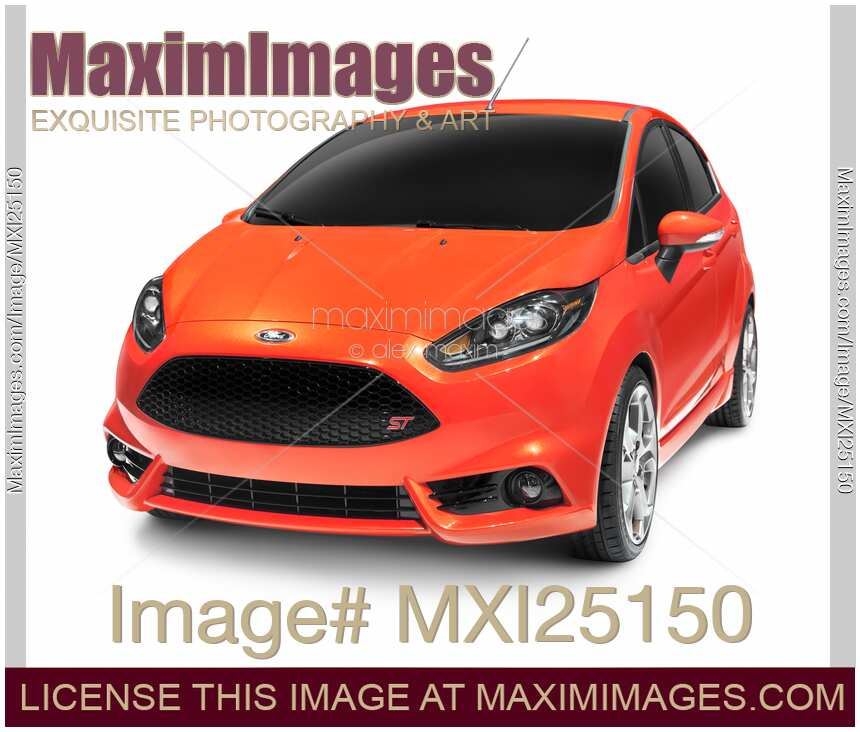Stock Photo: Red 2012 Ford Focus ST Car
