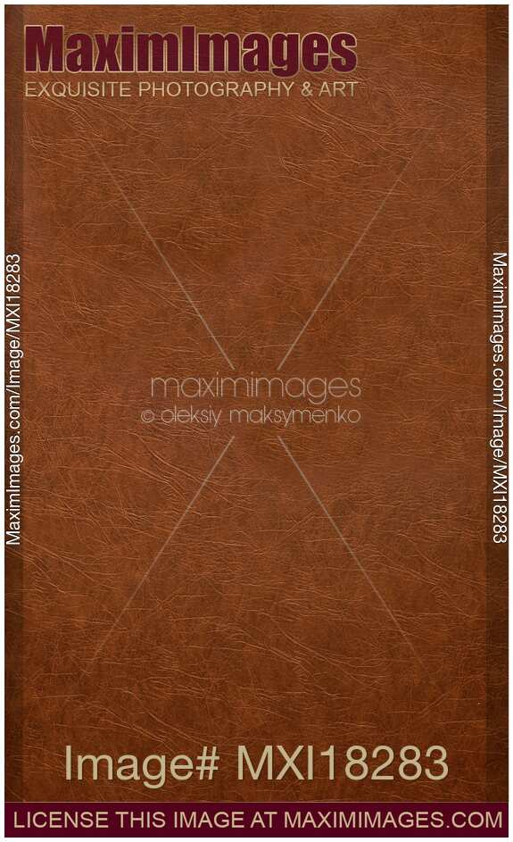 Book Cover Stock Images : Stock photo brown leather book cover maximimages