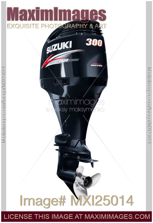 Stock photo: Suzuki 300 Outboard Boat Motor | MaximImages