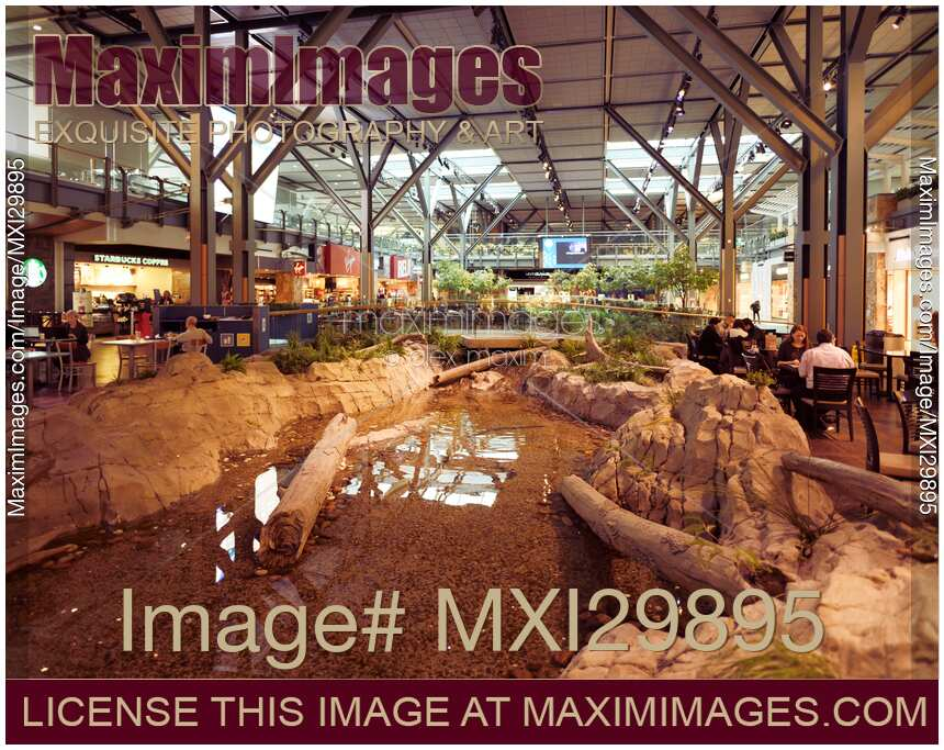 Photo of Vancouver International Airport departures waiting lounge interior  | Stock Image MXI29895