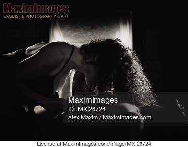 Photo of Sensual portrait of a couple making love in front
