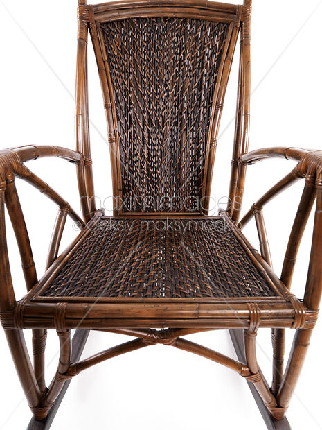 Stock Photo Of Abstract Closeup Of Antique Wicker Rocking Chair