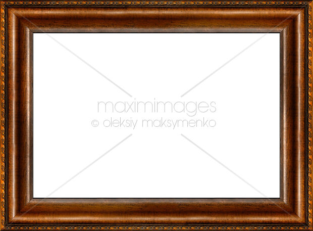 Stock photo: Antique rustic dark wooden picture frame | MaximImages ...