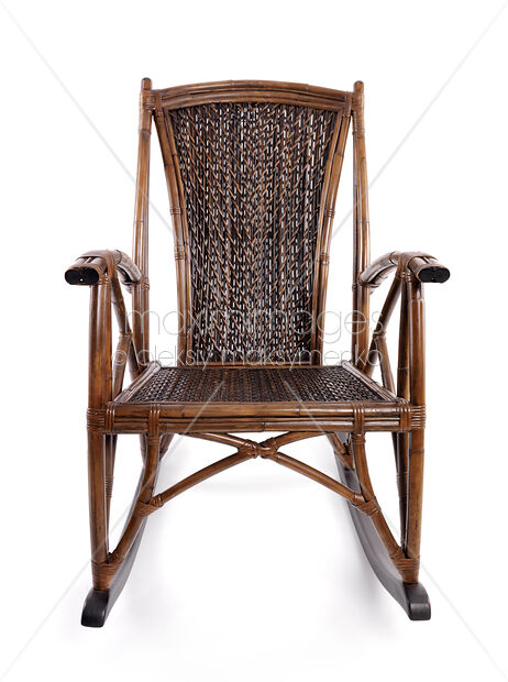 Stock photo of Antique Wicker Rocking Chair - Stock Photo: Antique Wicker Rocking Chair MaximImages Image