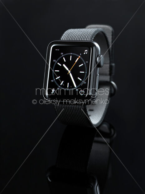 Apple Watch smartwatch with analog clock dial