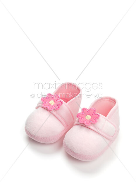 4e1979720bb Baby girl pink shoes isolated on white background