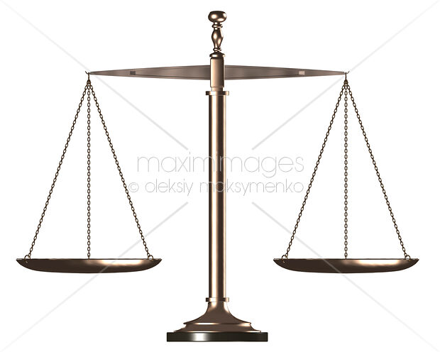 Stock Illustration Balanced Scales Law And Justice Symbol