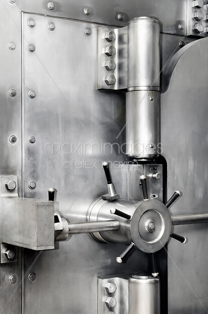 Stock Photo of Bank Vault Locked Safe Door Image MXI28328 at MaximImages com