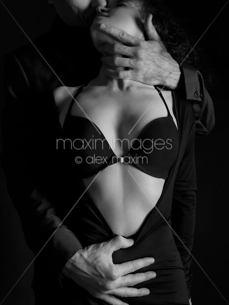 Stock Photo Of Beautiful Sensual Portrait Of A Couple Black And White