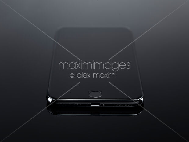 Stock Photo of Closeup of Apple iPhone 7 Plus with blank screen on black  Image MXI28625 at MaximImages com