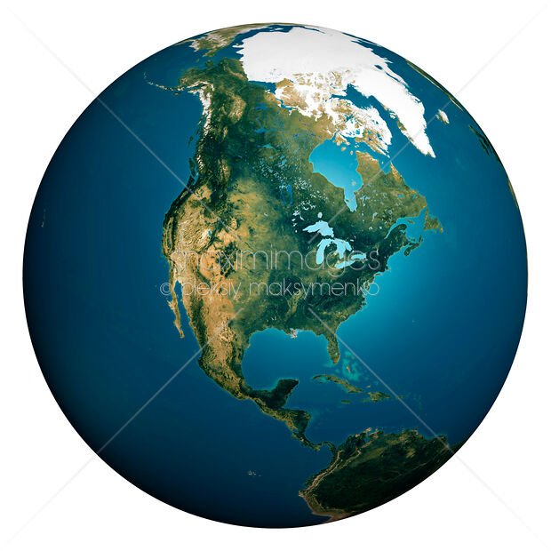 Map Of The World Globe View.Stock Illustration Of Earth Globe Map Of North America Image Mxi19005 At Maximimages Com
