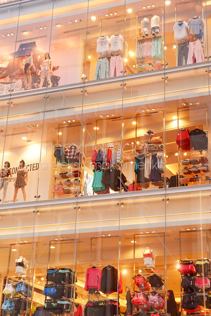 stock photo forever 21 store window display in tokyo japan