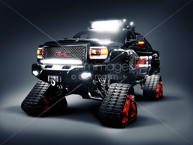 Snow Tracks For Trucks >> Stock Photo Of Gmc Pickup Truck On Snow Tracks Image Mxi28823 At Maximimages Com