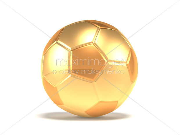 41036dd2d Golden soccer ball isolated on white background | MaximImages stock  illustration