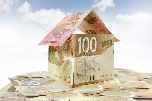 This Rights Managed Stock Photo Of House Made From Canadian Dollar By
