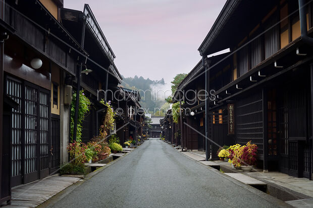This Rights-Managed stock photo of Houses on Kami-Sannomachi old merchant town street Takayama Japan by Alex Maxim, is available for commercial, editorial or personal usage. You can buy a license of this image at MaximImages.com.