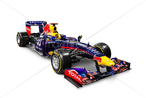2017 Infinity Red Bull Formula One Race Car Rb9 Isolated On White Background With Clipping Path